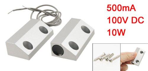 100V-DC-500mA-Metallo-Roller-Persiana-Porta-Magnete-Magnetico-Interruttore-Allarme-0-0