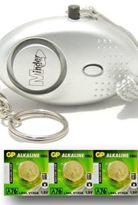 Argento-Mini-Minder-Forte-Personale-Personali-Panico-Stupro-Attacco-di-Sicurezza-Sirene-Alarme-140dB-con-torcia-Set-di-ricambio-delle-batterie-SPEDIZIONE-GRATUITA-0