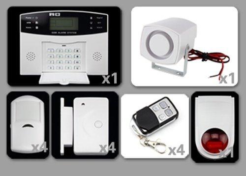 Vendita discoball allarma antifurto per casa o ufficio con schermo lcd wireless con - Antifurti per casa wireless ...