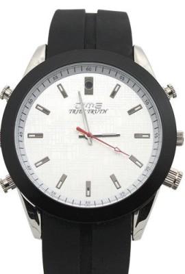 FLY-SHOP-16GB-Ultra-sottile-Water-Resistant-DV-DVR-Spy-Watch-Orologio-Spia-Cinturino-in-Silicone-Nera-Quadrante-Beige-0