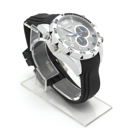 Flylinktech-16GB-HD-Impermeabile-Spy-Watch-Orologio-Spia-Videocamera-Nascosta-Visione-Notturna-Cinturino-Nero-Quadrante-Argento-0-0