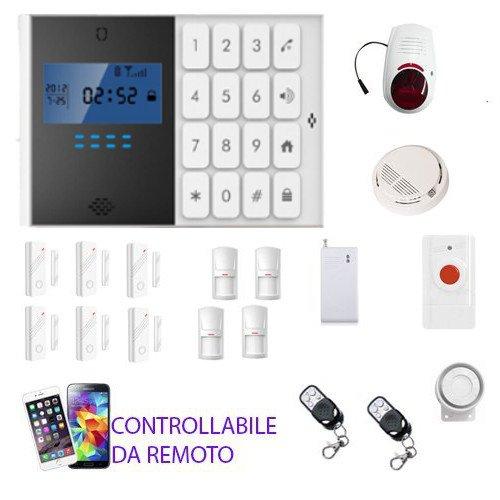 KIT-ANTIFURTO-ALLARME-CASA-NEGOZIO-GARAGE-CAMPER-COMBINATORE-GSM-WIRELESS-CONTROLLO-DA-REMOTO-CON-CELLULARE-0-1