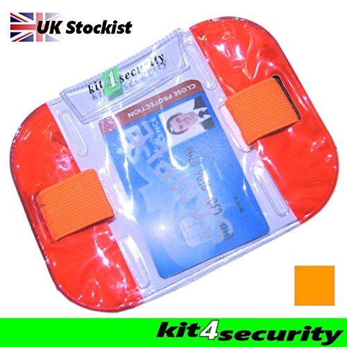 Kit4Security-Fascia-da-braccio-ad-alta-visibilit-per-riporre-carta-di-identittessera-per-buttafuori-e-personale-dei-locali-standard-di-sicurezza-SIA-0
