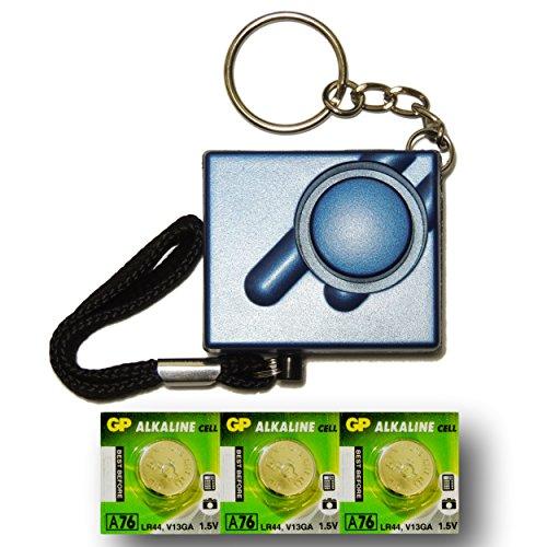 Metallico-Blu-Mini-Minder-Forte-Personale-Personali-Panico-Stupro-Attacco-di-Sicurezza-Sirene-Alarme-140dB-Set-di-ricambio-delle-batterie-SPEDIZIONE-GRATUITA-0
