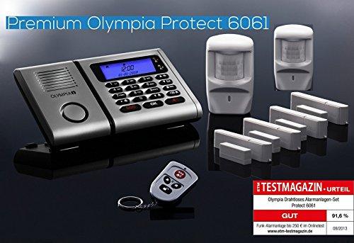 Vendita Olympia Premium Plus Set dallarme senza fili 6061 con 2 sensori di  movimento, funzione emergenza e vivavoce e composizione del numero di ...