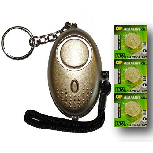 Oro-Mini-Minder-Forte-Personale-Personali-Panico-Stupro-Attacco-di-Sicurezza-Sirene-Alarme-140dB-con-torcia-Set-di-ricambio-delle-batterie-SPEDIZIONE-GRATUITA-0