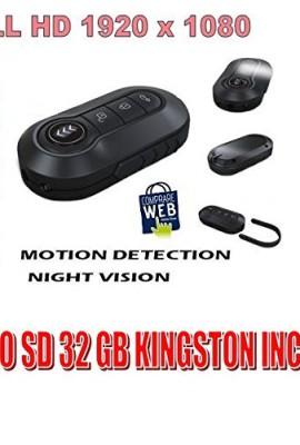 PORTACHIAVI-SPIA-VIDEO-FINTO-FULL-HD-1920X1080P-MICRO-SD-32GB-KINGSTON-TELECOMANDO-PENNA-SPY-TELECAMERA-VISIONE-NOTTURNA-NIGHT-VISION-0