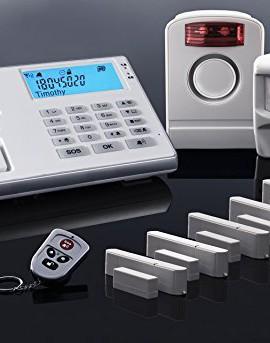 Premium-Olympia-Impianto-allarme-9061-in-bianco-Super-set-1-x-sirena-esterna-5-x-contatti-finestraporta-2-x-Sensori-di-movimento-0