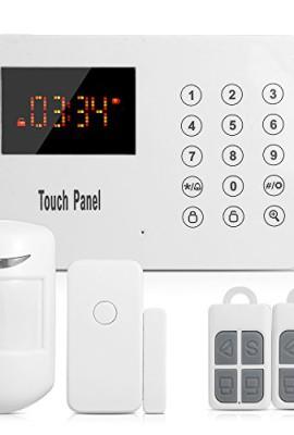 SUNLUXY-Sistema-Antifurti-Allarme-PIR-Tastiera-Tocco-Wireless-Auto-Dialer-120-Zone-PSTN-0