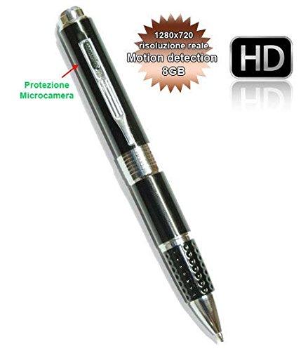 Spy-Pen-8GB-Penna-Spia-o-SpyPen-con-microcamera-HD-Scatta-Foto-e-Registra-Video-in-720P-reali-senza-interpolazione-1280720-con-funzione-Motion-Detection-e-Audio-senza-essere-Notati-gazie-alla-Microtel-0