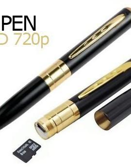 Tecnonova-Penna-con-telecamera-registratore-Audio-foto-e-Video-HD-colore-nero-e-Oro-0