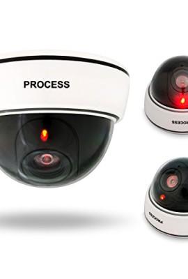 VENKON-Telecamera-di-Sicurezza-FINTA-CCTV-Videokamera-di-Sorveglianza-con-LED-Rosso-per-Uso-Interno-Esterno-Batterie-Alimentato-0