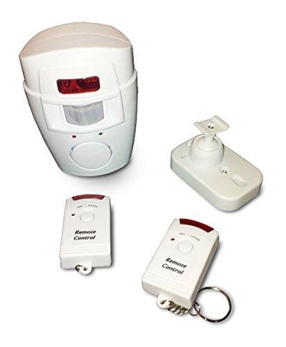 WER-Allarme-Antifurto-in-Blister-con-Sensore-Sensibile-a-Raggio-110-gradi-e-Sirena-da-105-DB-Completo-di-2-Telecomandi-0