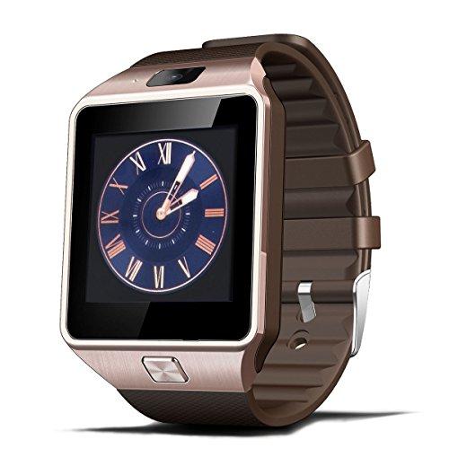 XCSOURCE-2015-Hot-Smart-Watch-DZ09-Orologio-da-Polso-Intelligente-con-Bluetooth-30-e-Telecamera-Touchscreen-per-AppleiOS-Samsung-Android-HTC-Supporta-Orologio-Smartphone-Sport-SMITF-Marrone-AC256-0